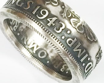 Coin Ring: Hand crafted from a British Two Shilling (Florin) - Please select SIZE and YEAR below.