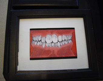 """small painting titled """" Teeth"""""""