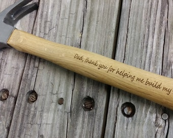 Father's Day Hammer - Engraved Wooden Handled Hammer - Personalized Hammer - Gift for Dad - Groomsmen Gift