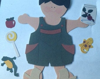 Paper Doll Boy Summer Fun