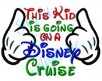 Instant Download Going on a Disney Cruise - Embroidery Design Disney