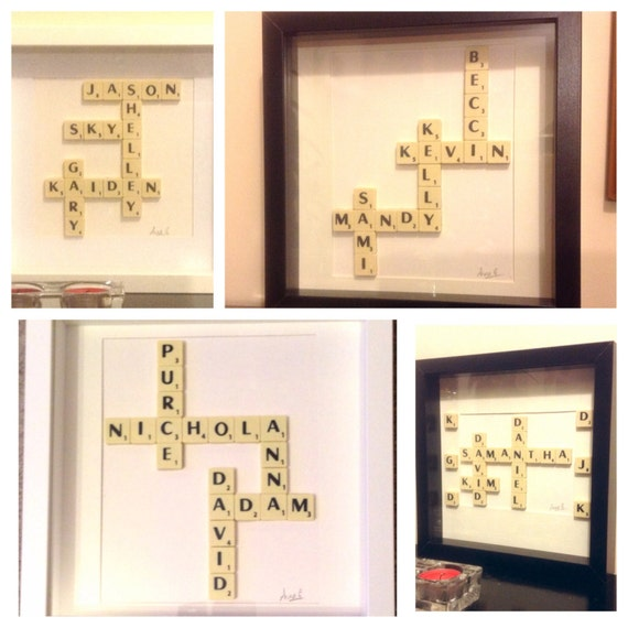 Wedding Gift Wall Art: Wedding Present Personalised. Framed Letter By MySilverPenguin