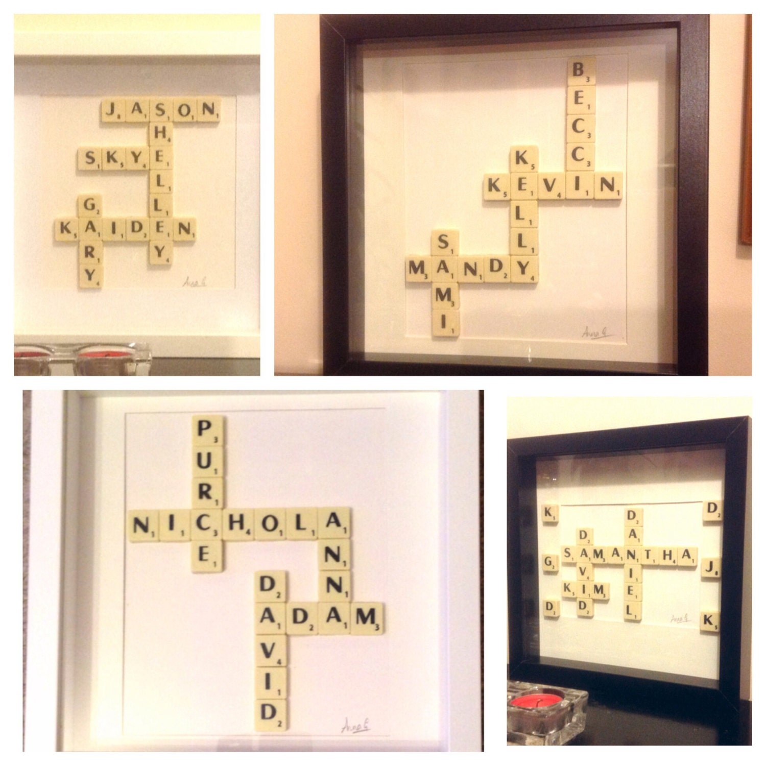 Scrabble Frame Scrabble Wall Art Personalised Custom Wedding