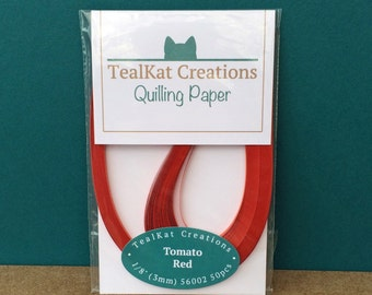 Tomato Red Quilling Paper