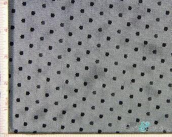 "Black Point D'Esprit Mesh with Dot Fabric 2 Way Stretch Nylon  52-53"""