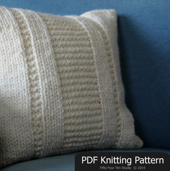 Knitting Pillow Case Pattern : Pillow knitting pattern the parkway cushion