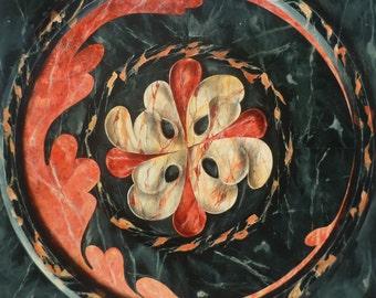 Fake marble, 100x100cm, acrylic on medium.