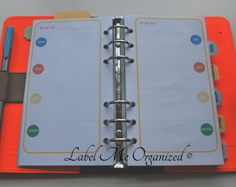 Perpetual Weekly Planner - Personal Sized