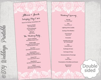 Baby Shower Program Template Wedding Program Template Teal Calligraphy Printable Wedding