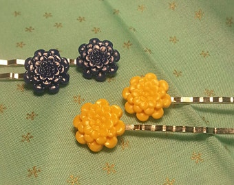 Clay Flower Bobby Pins