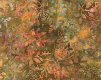 Robert Kaufman Terracotta Branches Batik Fabric by the Yard AMD-12256-92