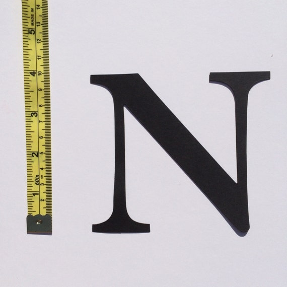 Large die cut cardboard letter or number 4 inch 10cm for Large cardboard cut out numbers