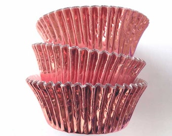 Light Pink Foil Cupcake Liners Baking Supplies Dusty Pink