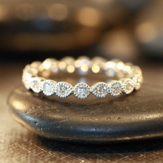Items Similar To Vintage Inspired Bezel Set Diamond