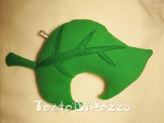 Animal Crossing New Leaf leaf plush pillow