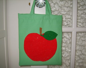Childs apple green apple bag