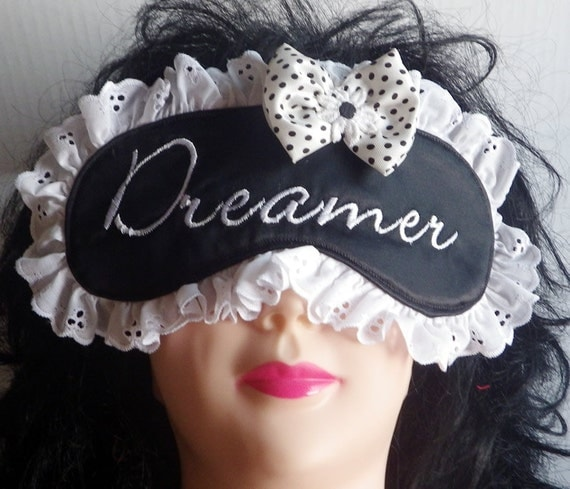 Embroidered Sleeping Mask, Eye Mask, Meditation Mask