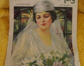 1919 Sheet Music Book