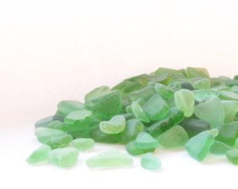 Genuine green sea glass. Bulk beach glass. Natural small sea glass. Craft glass. Glass decor. Aquarium glass. Mosaic glass.