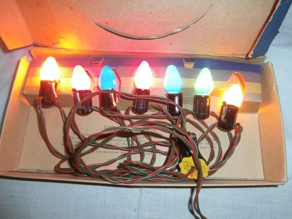 Vintage Christmas lights C7 Sterling string by SaintNicksTreasures