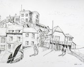 Broadstairs Original Pen & Ink Drawing The Old Lookout - Sale Item
