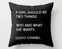 Chanel Pillow - Decorative Pillows - Velveteen Pillow Cover - Chanel Cushion Cover - Fashion Pillow - Gift Ideas for Women - Gift Ideas