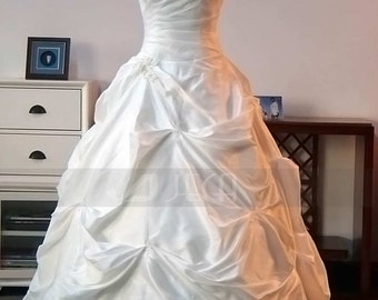 Plus Sizes Taffeta Wedding Gown Modest Wedding Dress