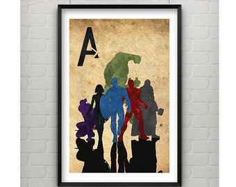 Avengers Print 11x17 - 11x17 Print - Avengers SuperHero Print - Avengers Movie Inspired Print