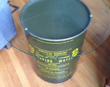 Vintage Fallout Shelter Water Storage Can/Table