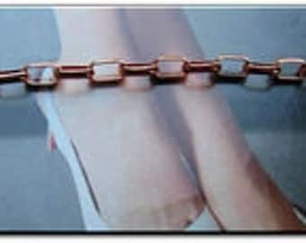 Solid Copper Anklet CA662G - 3/16 of an inch wide - USA made.