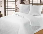 White Bed linen, sheet, duvet cover, 2 pillowcases, ORGANIC, Natural Cotton