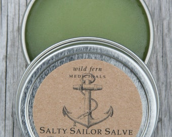Salty Sailor Moisturizing Salve.  All Purpose Balm To Help with Eczema, Psoriasis, and to Heal Dry Chapped skin.