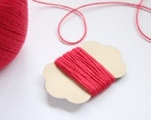 5m pure cotton red twine - 5 metres - 5.4 yards -  red cotton string - 3 ply - LadyPapery
