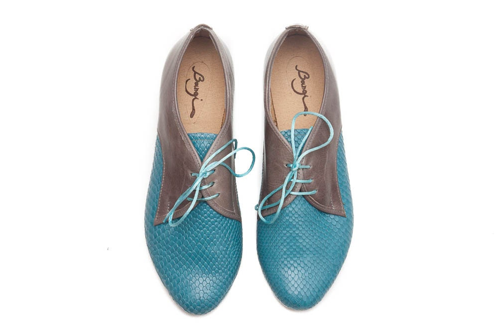 turquoise leather shoes turquoise shoes turquoise oxford