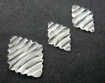 13.2 CTS Natural Crystal Quartz Carved Perfect 3 Pieces Set by Unique Indian carving Art For Making Elegant Earrings & Pendant
