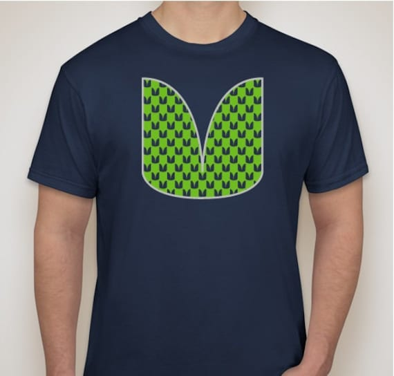 Items similar to seattle seahawks themed feather tribal for Seattle t shirt printing