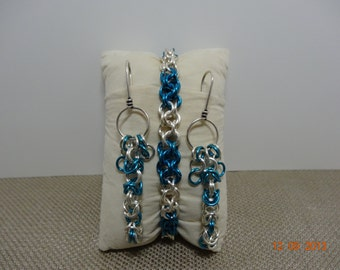Chainmaille Bracelet and Earrings