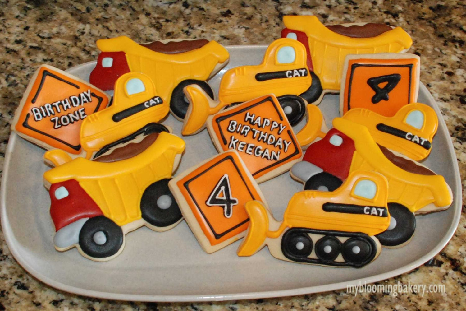 Roller dozer shoes - Construction Sugar Cookies Dump Truck Bulldozer Caution Signs 12 Rolled Decorated