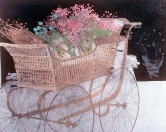 """Print   """"Wicker Carriage"""""""