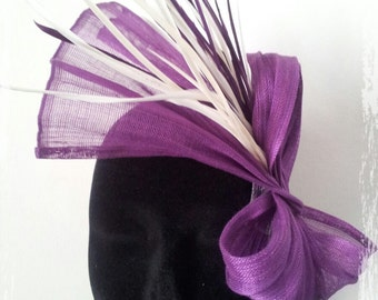 Bibi Violeta in purple silk sinamay