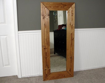 Large Beautiful Wood Framed Full-Length Mirror