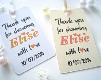 Bridal shower favor tags, baby shower tags, thank you tags, small tags, favor tags, shower favor tags, custom favor tags - 30 count(tg41)