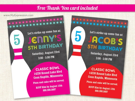 bowling einladung geburtstag-einladungen druckversion, Einladungen