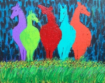 Abstract Horses