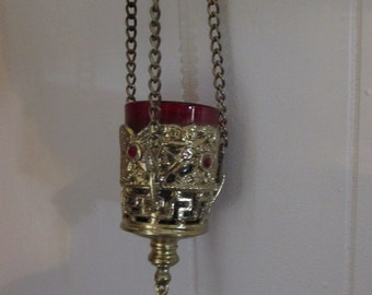 Orthodox Church Hanging Oil/Candle Lamp