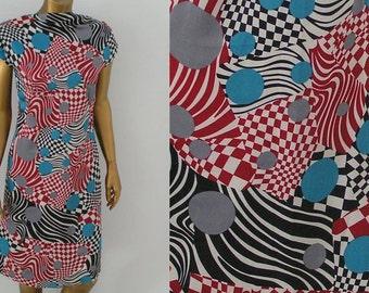 Geometric mod dress from 1960s Vogue pattern  XS