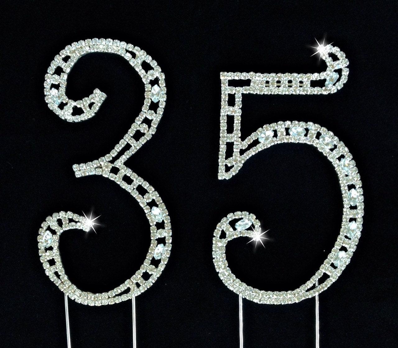 35th birthday wedding anniversary number cake topper large for 35th birthday decoration ideas