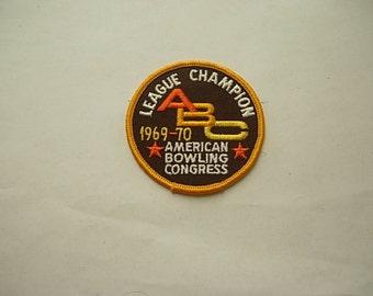 1969 Bowling Patch