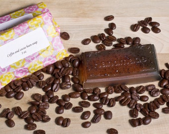 Coffee and cocoa bean soap
