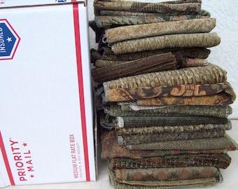 fabric samples #4 green gold assortment
